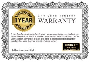 Bridget 1 Year Warranty