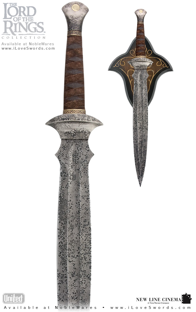 Lord of the Rings Museum Collection Sword of Sam and wall