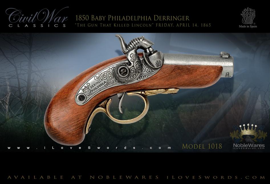 Non-Firing Replica 1850 Baby Philadelphia Derringer model 1018 by Denix