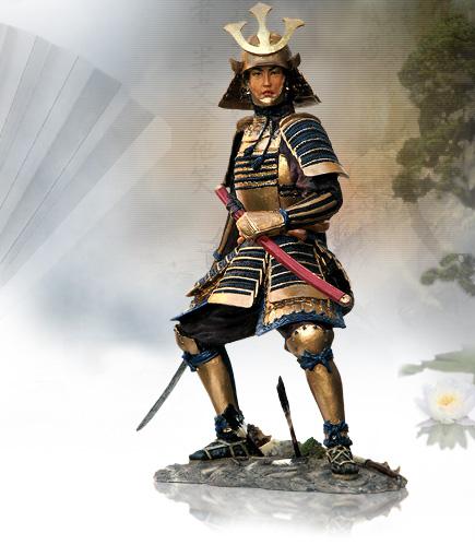 ytc6945 samurai warrior nobu cold cast sculpture by ytc summit