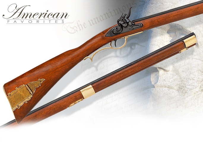 "NobleWares Imageof non-firing replica of ""Old Betsy"" the Kentucky Flintlock Rifle model 1138 by Denix of Spain"