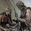 Cold Cast Bronze Statue of the Nativity 7546 by Pacific Trading Co