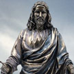 Cold Cast Bronze Statue Jesus with Open Arms 7315 by Pacific Trading